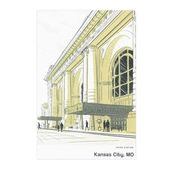 Bozz Prints Kansas City Union Station Postcard