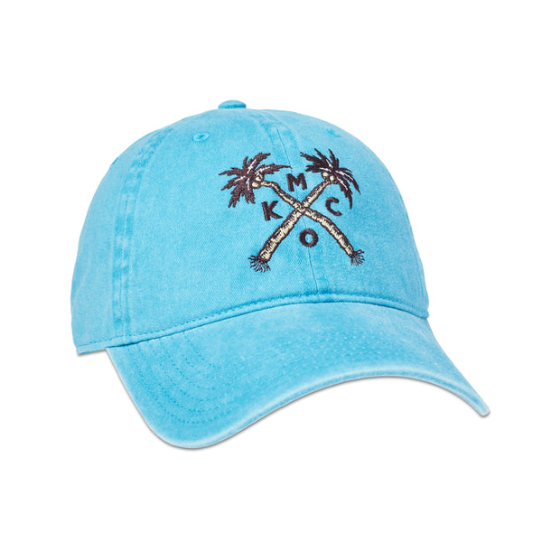 The Bunker KCMO Palms Dad Hat - Lake Blue