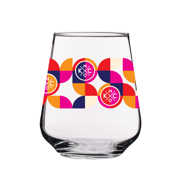 The Bunker Retro KC Stemless Wine Glass