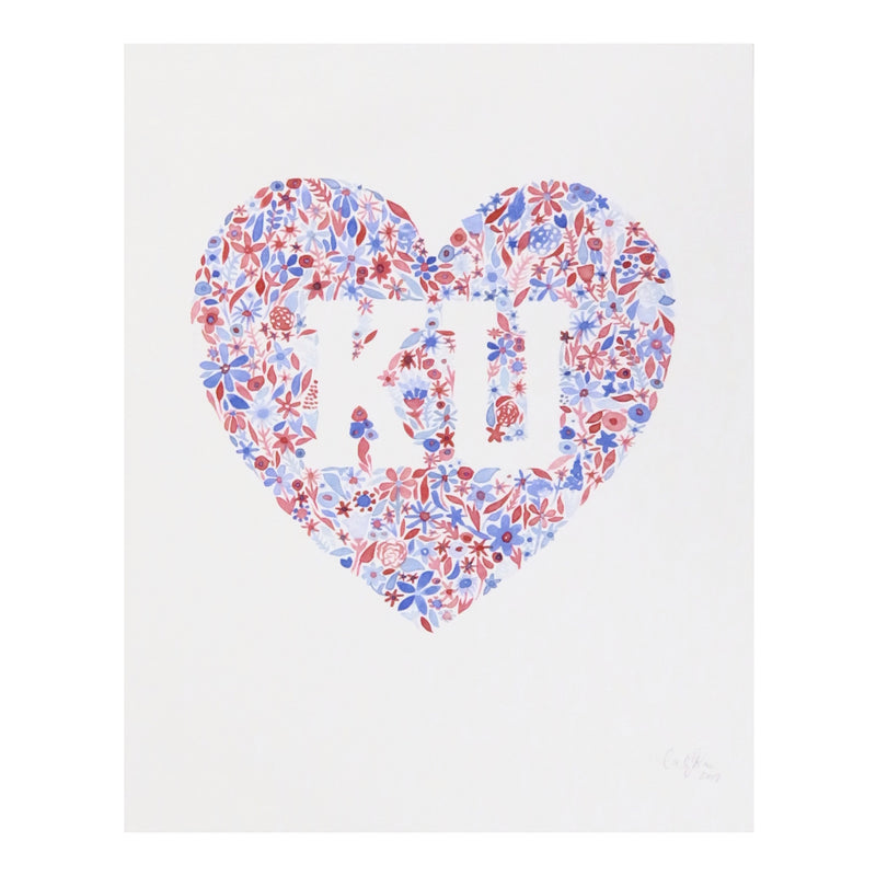 Carly Rae Studio KU Heart Print