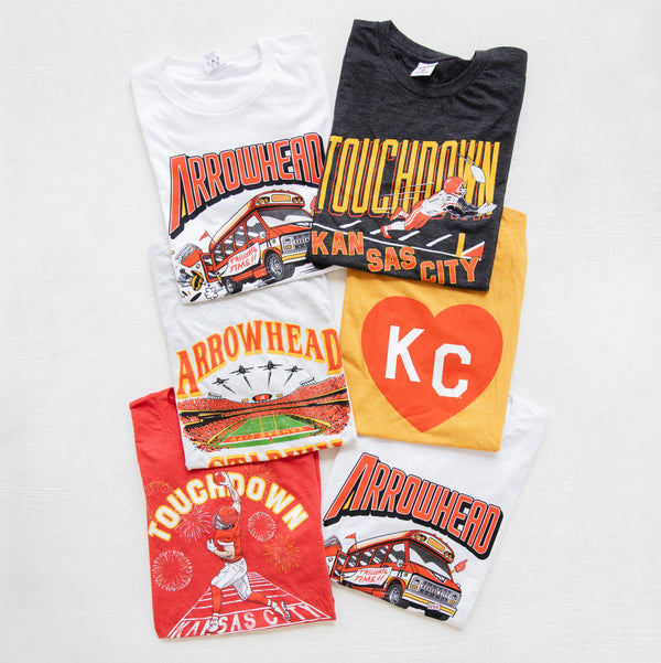 Charlie Hustle Touchdown Kansas City Tee
