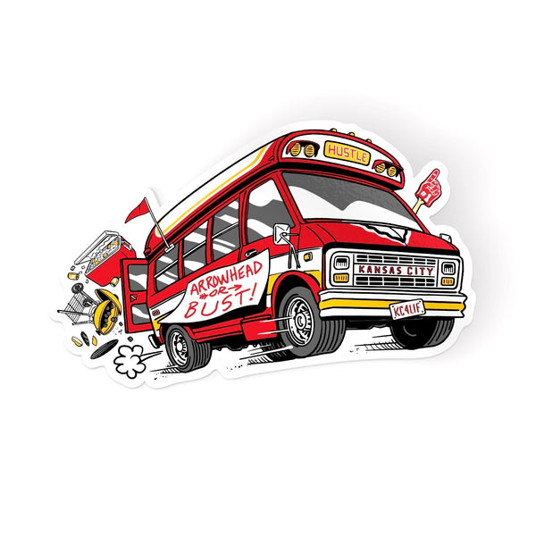 Charlie Hustle Arrowhead or Bust Sticker