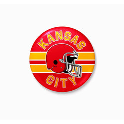 Charlie Hustle Kansas City Football Button