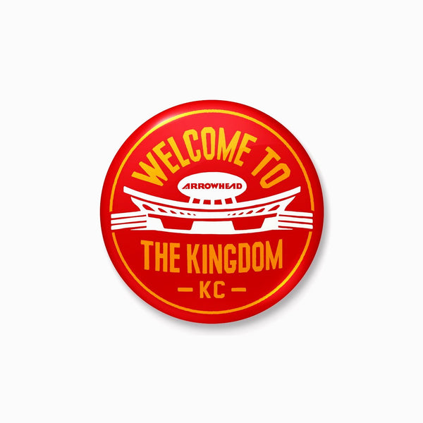 Charlie Hustle Welcome to the Kingdom Button