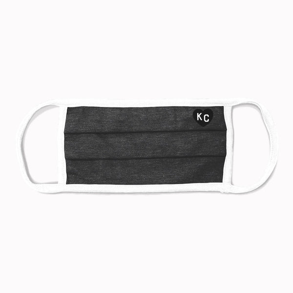 Charlie Hustle KC Heart Comfort Face Mask - Charcoal