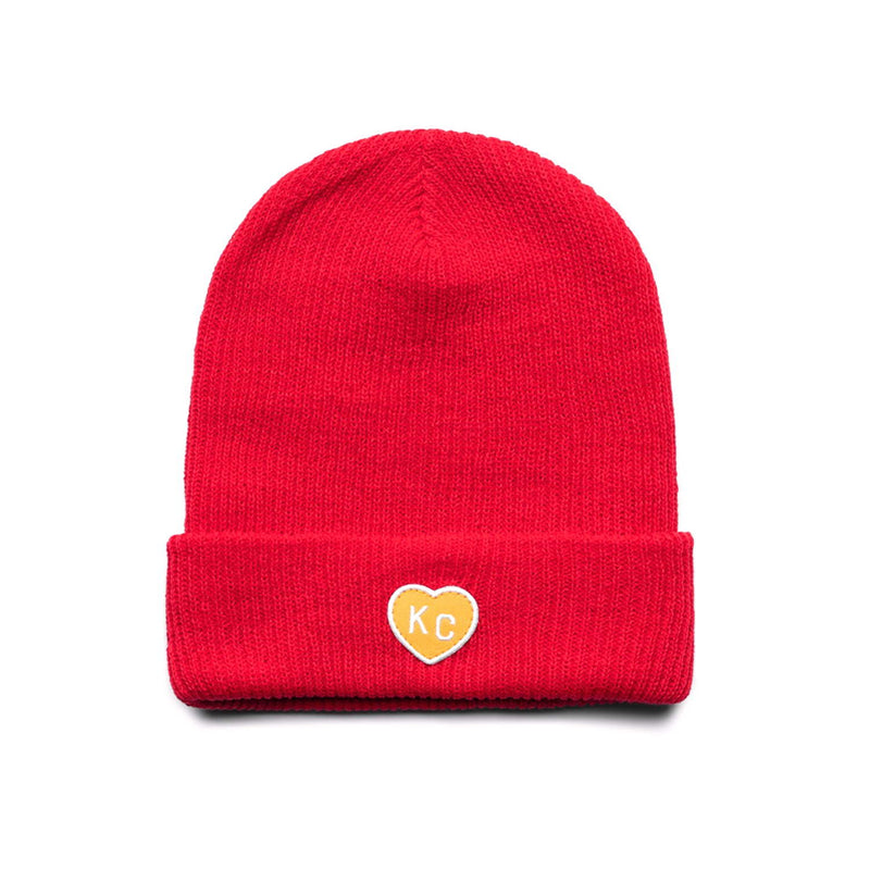 Charlie Hustle KC Heart Beanie - Red