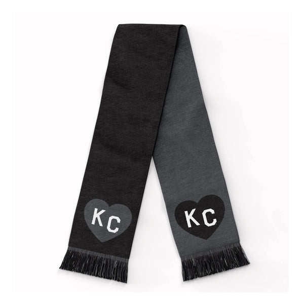 Charlie Hustle KC Heart Scarf: Black