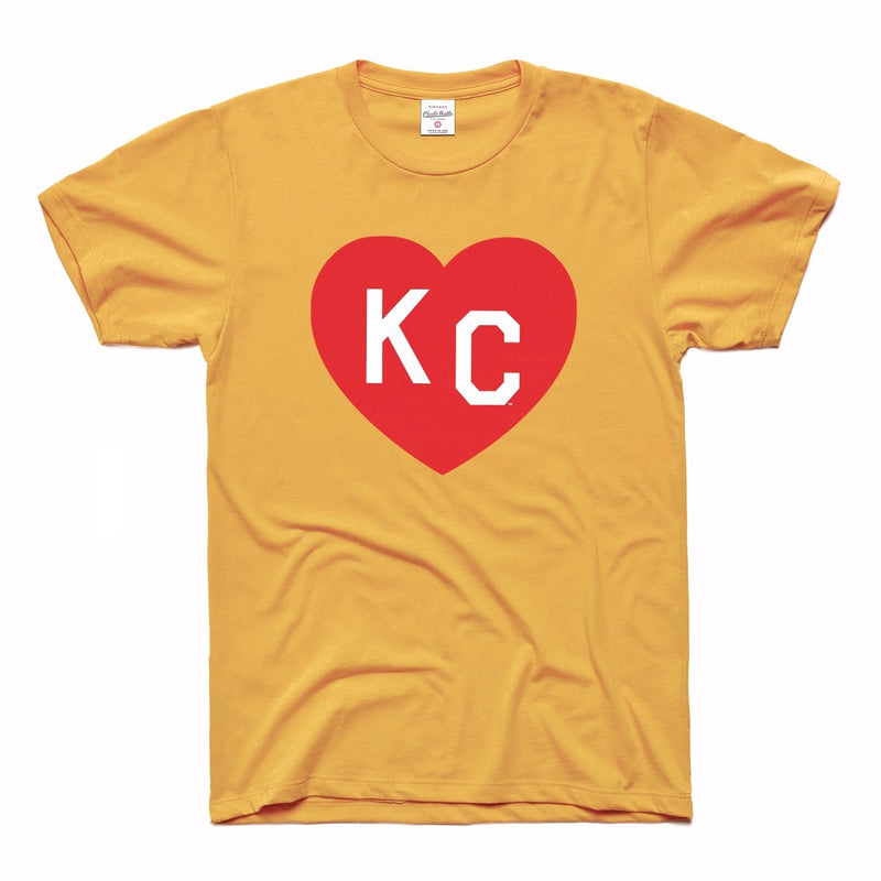 Charlie Hustle KC Heart Tee - Gold & Red