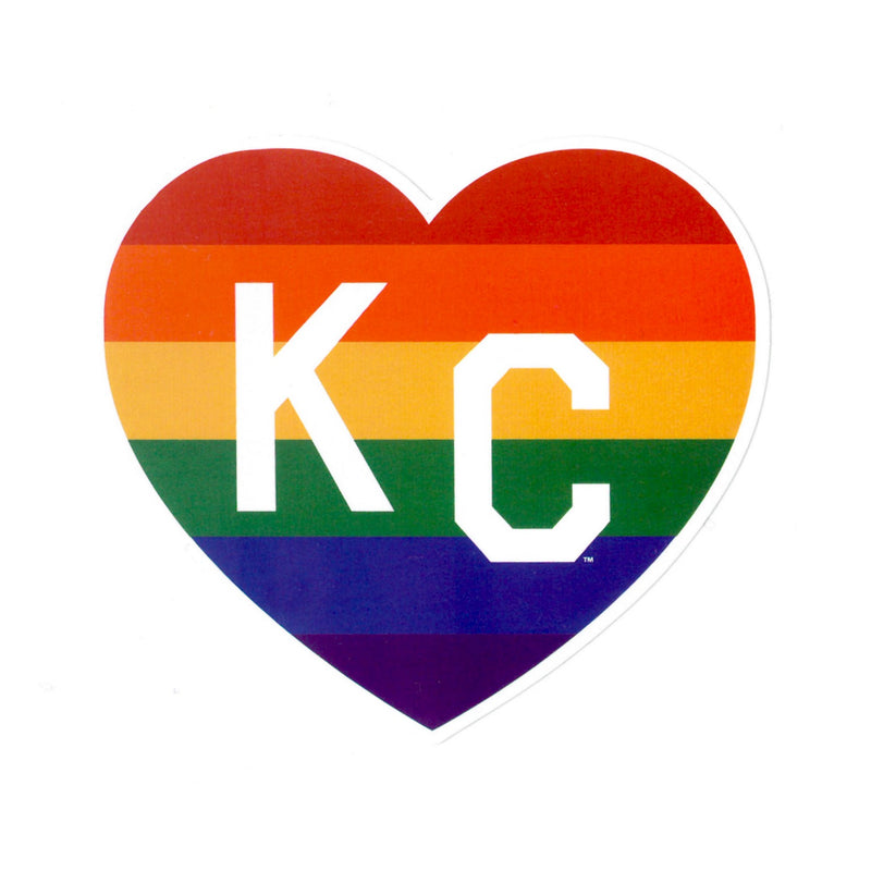 Charlie Hustle KC Pride Heart Decal