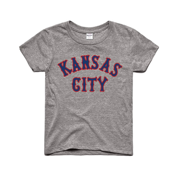 Charlie Hustle Kansas City Classic Kids Tee - Grey