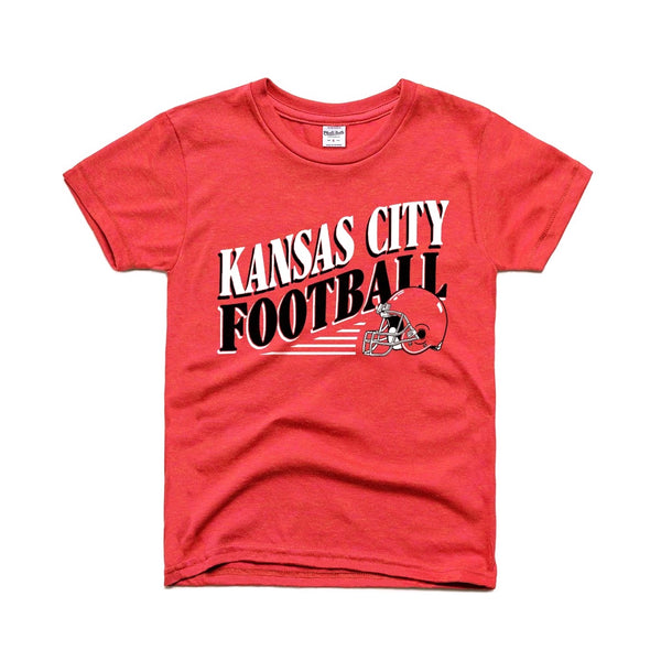 Charlie Hustle Kansas City Football Kids Tee