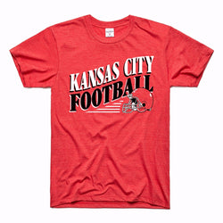 Charlie Hustle Kansas City Football Tee - Red