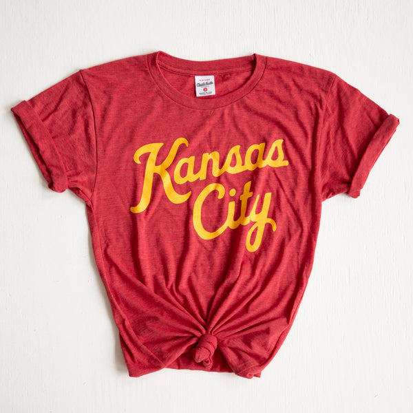 Charlie Hustle Kansas City Script Tee - Red