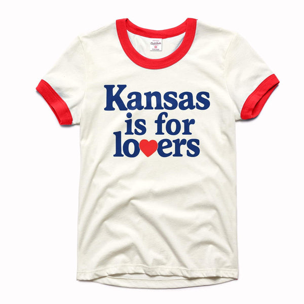 Charlie Hustle Kansas Is For Lovers Women's Ringer Tee