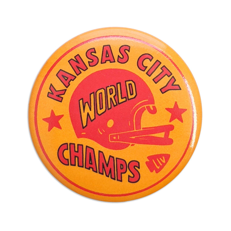 Charlie Hustle Kansas City World Champs Button