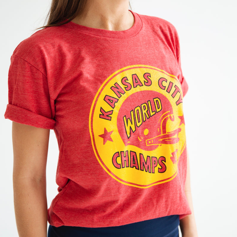 Charlie Hustle KC World Champs Tee