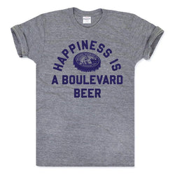 Charlie Hustle Happiness Is a Boulevard Beer Tee