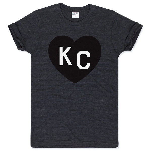 Charlie Hustle KC Heart Tee - Black