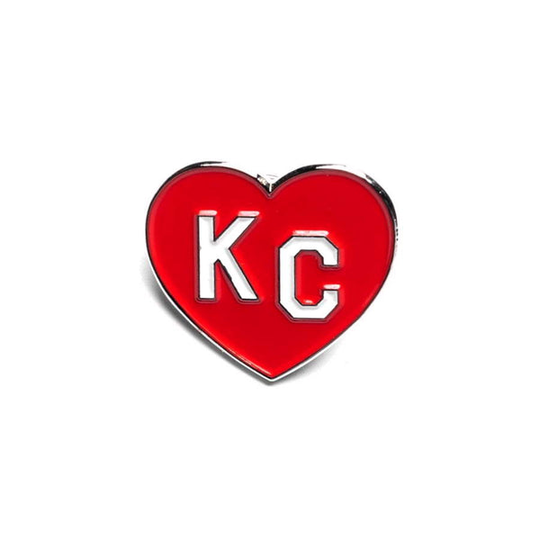 Charlie Hustle KC Heart Enamel Pin: Red