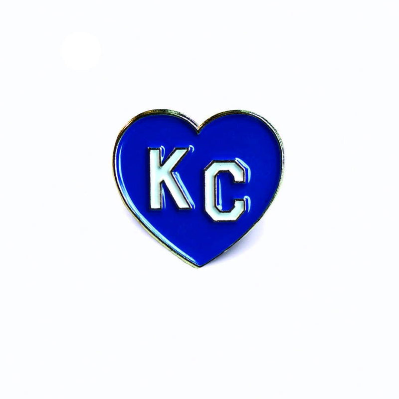 Charlie Hustle KC Heart Enamel Pin: Royal Blue