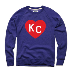Charlie Hustle KC Heart Sweatshirt: Navy