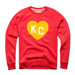 Charlie Hustle KC Heart Sweatshirt: Red