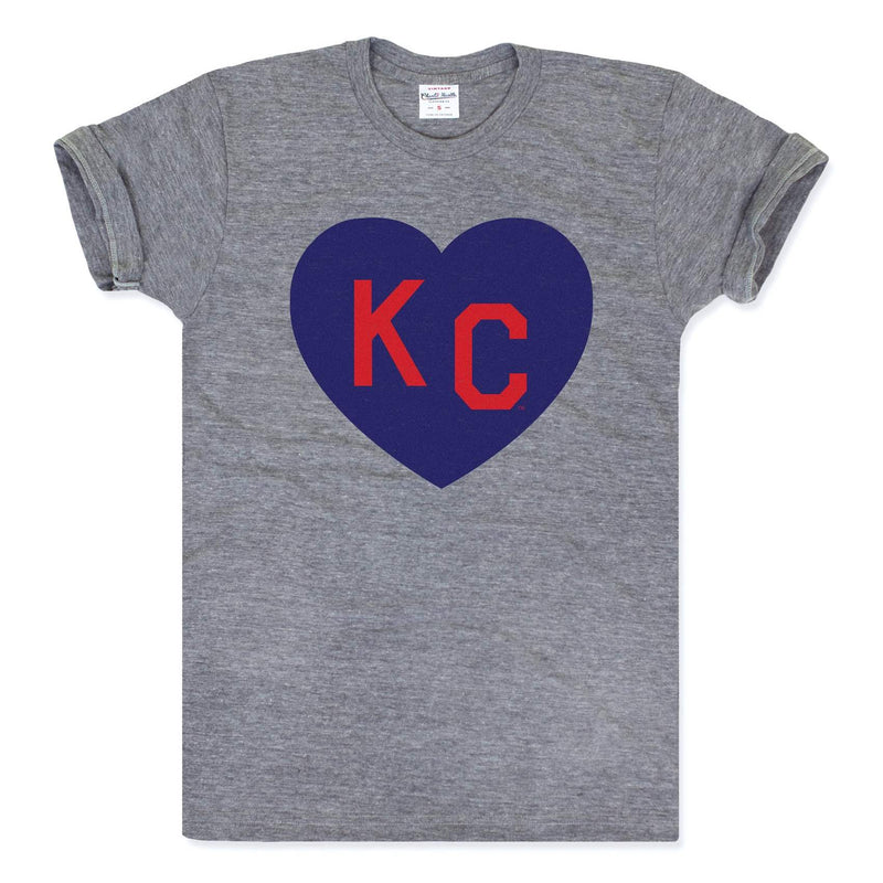 Charlie Hustle KC Heart Tee - Grey