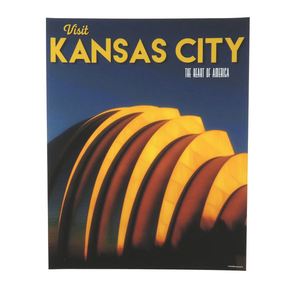 Choose KC The Kauffman Performing Arts Center Travel Poster Print