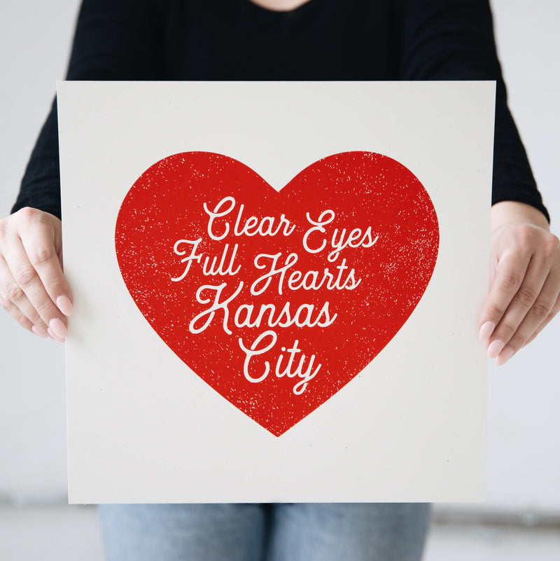 Clear Eyes Heart Script Print