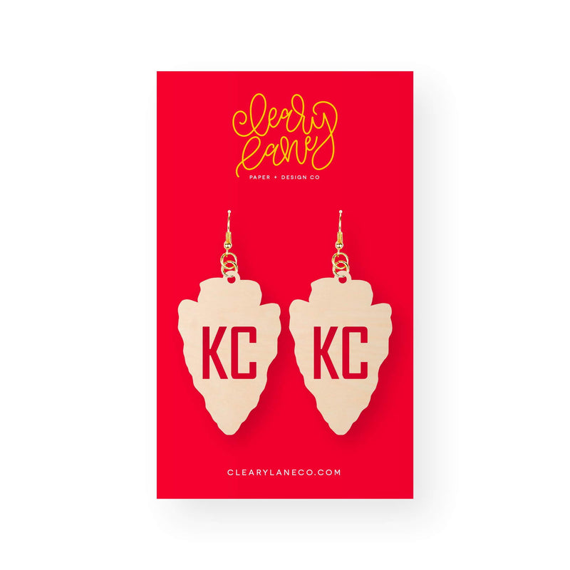 Cleary Lane KC Arrowhead Dangle Earrings