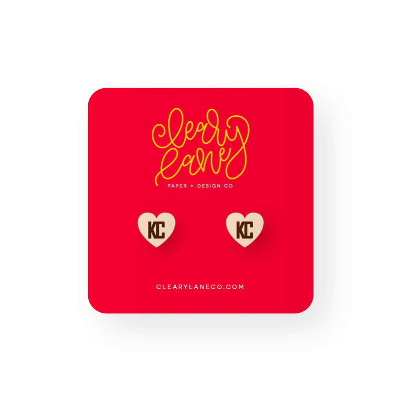 Cleary Lane KC Heart Stud Earrings