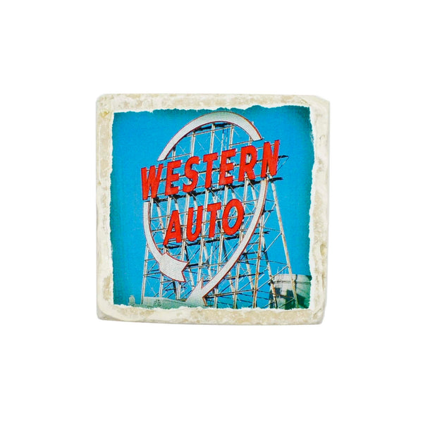 Coasters to Coasters: Western Auto Sign
