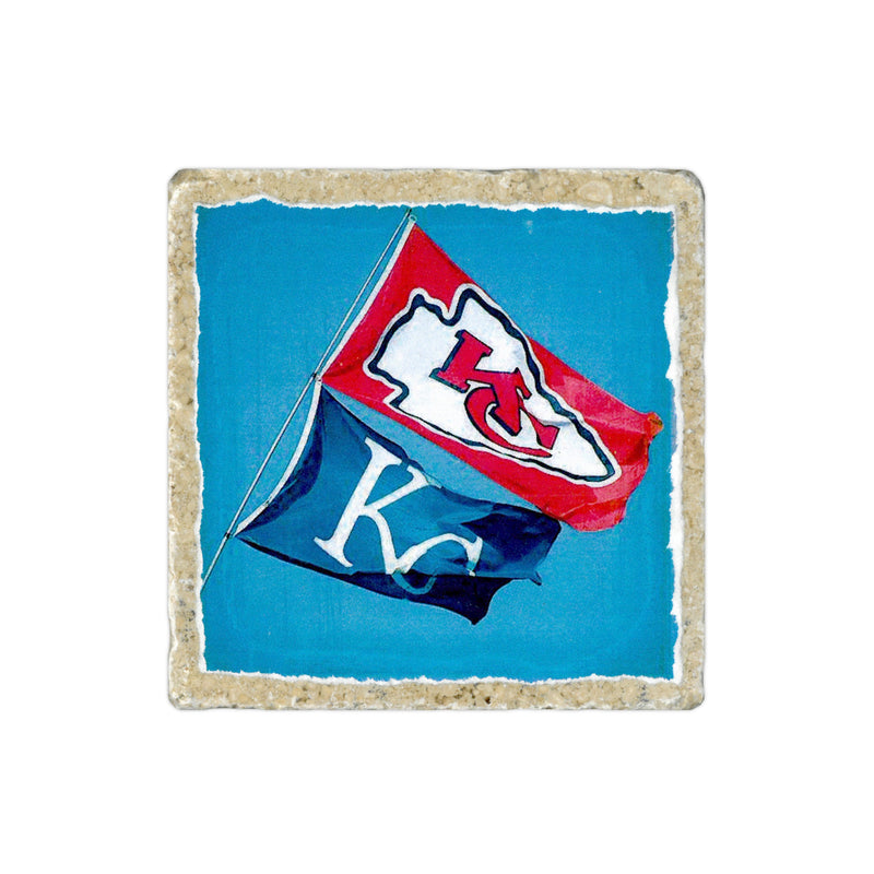 Coasters to Coasters: KC Flags