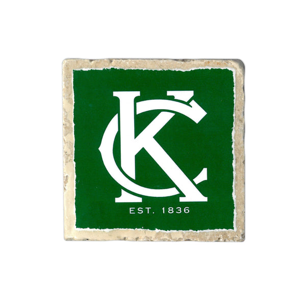 Coasters to Coasters: Green KC Logo