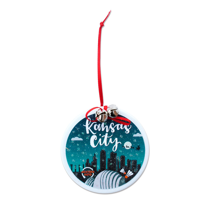 Coasters to Coasters Kansas City Skyline Ornament