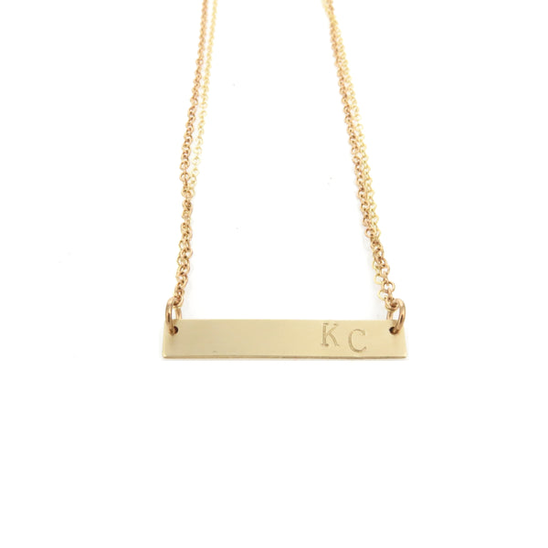 Coki Bijoux KC Bar Necklace - Gold
