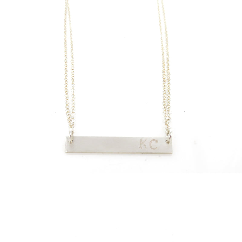 Coki Bijoux KC Bar Necklace - Silver