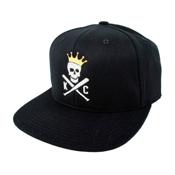 Commandeer Crossed Bats Snapback - Black