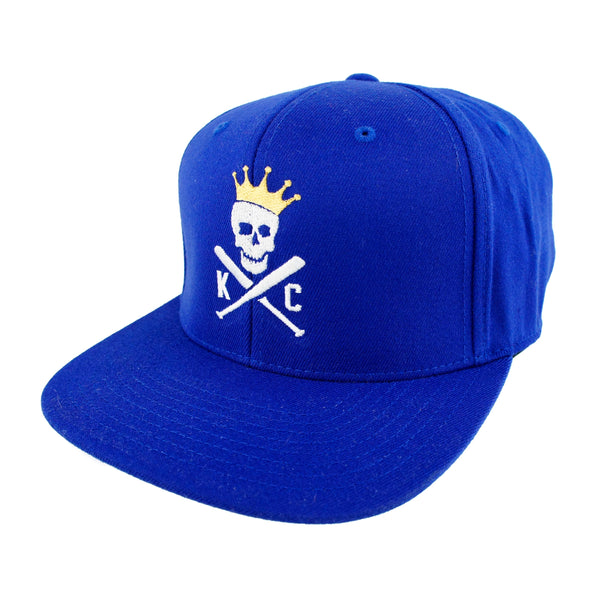 Commandeer Crossed Bats Snapback - Royal Blue