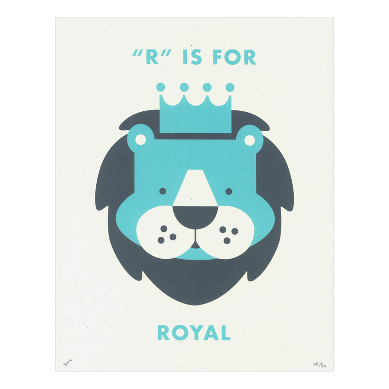 "Conaghan Creative ""R"" is for Royal Print"
