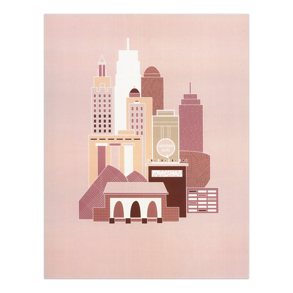 EmPerfect Designs Kansas City Blush Skyline Print