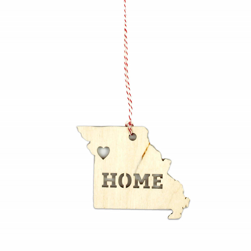 FarmDog Studios Missouri Home Woodcut Ornament