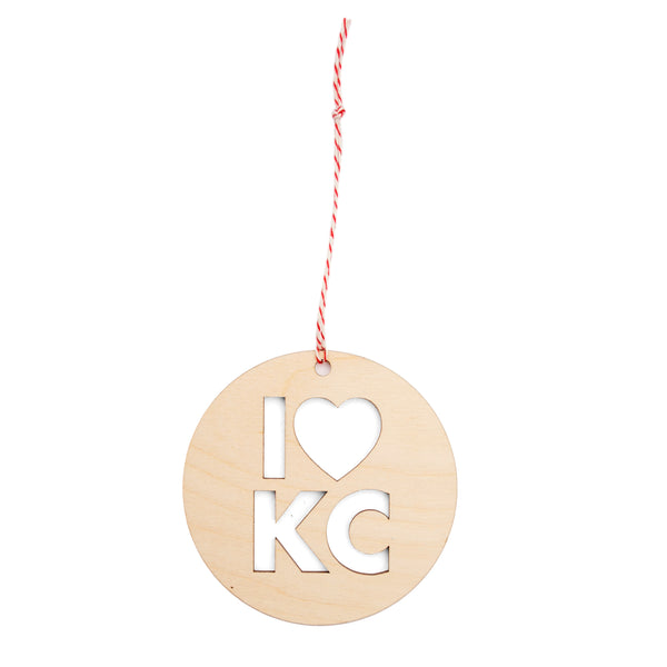 FarmDog Studios I Heart KC Ornament