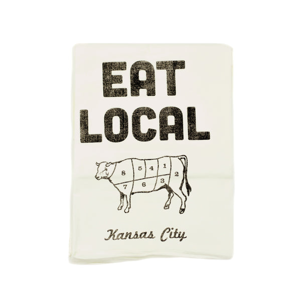 Farmdog Studios Eat Local Kansas City Tea Towel