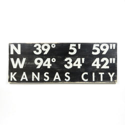 Farmdog Studios Kansas City Coordinates Sign