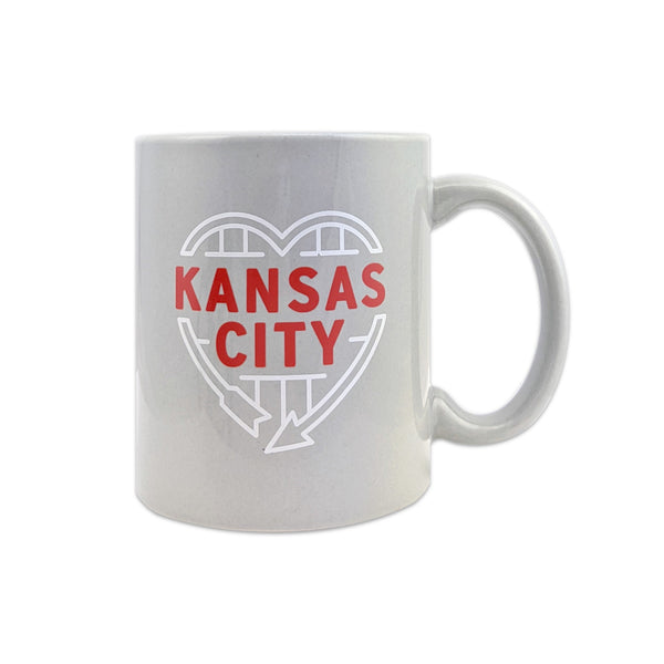 Flint & Field KC Heart Sign Mug - Grey