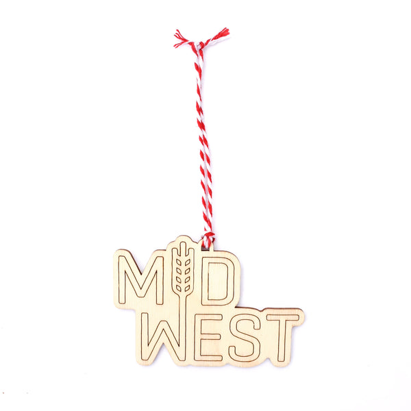 Flint & Field Midwest Woodcut Ornament
