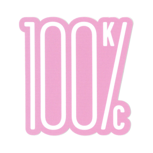 Flint & Field 100% KC Sticker - Pink
