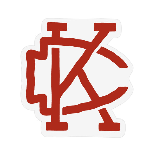 Flint & Field KC Arrowhead Sticker - White