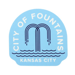 Flint & Field City of Fountains Sticker